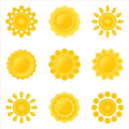 Icon-set of sun. Vector-Illustration. Stock Vector - 3109626