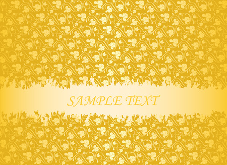 Grunge abstract background over gold. Vector-Illustration. Vector