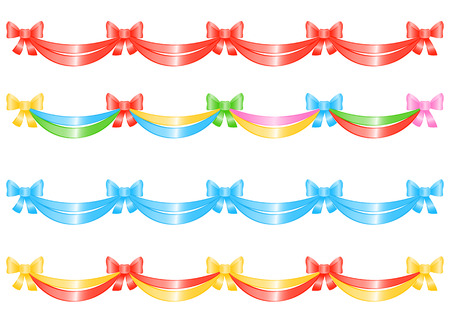 Bow-Banner for decoration. Vector-Illustration.