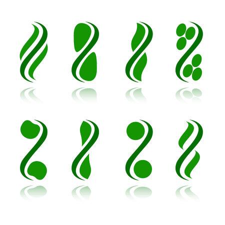 Zestaw logo - zakładu. Vector-Illustration