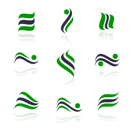 Set of logos. Vector-Illustration Vector