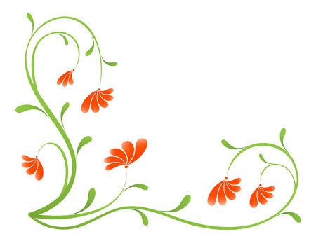 Grunge paint flower background, element for design. Vector-Illustration Stock Vector - 3362138