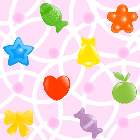 sweetmeats: Wrapping-paper background. Vector illustration.