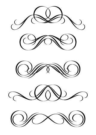 ビンテージ スタイルの抽象的な装飾の 5 つのバージョン  イラスト・ベクター素材