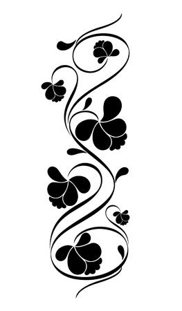 レトロな花柄のデザイン。ベクトル イラスト。