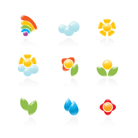 Garden and weather icon set. Vector-Illustration Stock Vector - 3422071