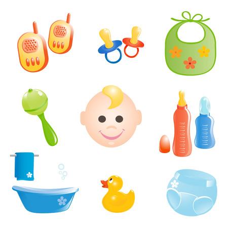Baby ensemble d'icônes. Illustration vectorielle