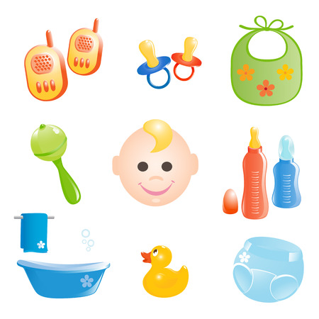 Baby icons set. Vector-Illustration Stock Vector - 3454421