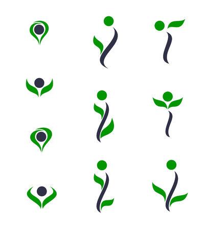 Set of logos - plant. Vector-Illustration Vector