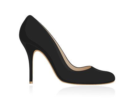 upscale: Black women shoe. Vector-Illustration