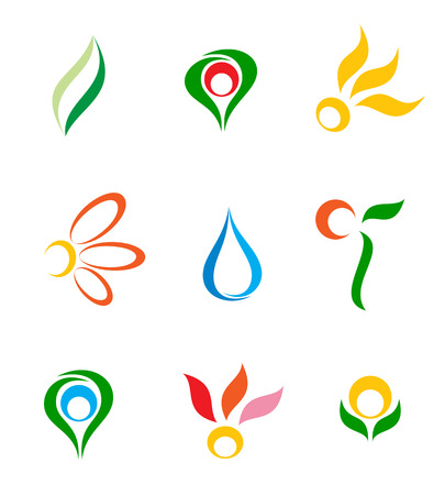 Set of logos. Vector-Illustration Stock Vector - 3585477