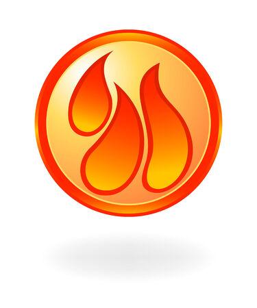 conflagration: Flame symbol. Vector illustration