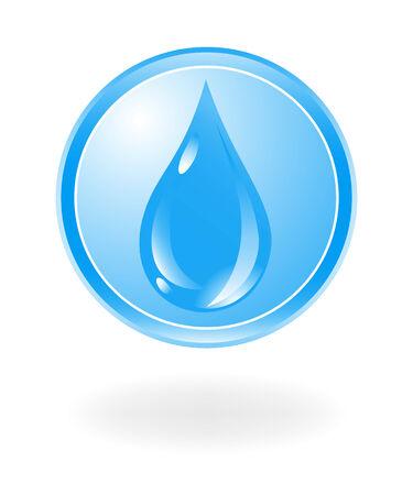 gocce di colore: Acqua simbolo. Vector illustration