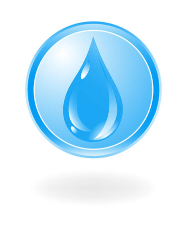 logo medicina: Agua símbolo. Ilustración vectorial