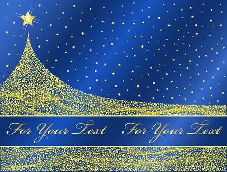Golden Christmas tree design. Vector-Illustration. Vector