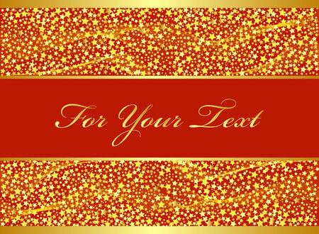 Golden Christmas design. Vector-Illustration. Vector