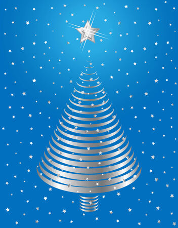 Silver Christmas tree design. Vector-Illustration. Vector
