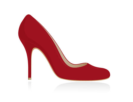 upscale: Red women shoe. Vector-Illustration Illustration