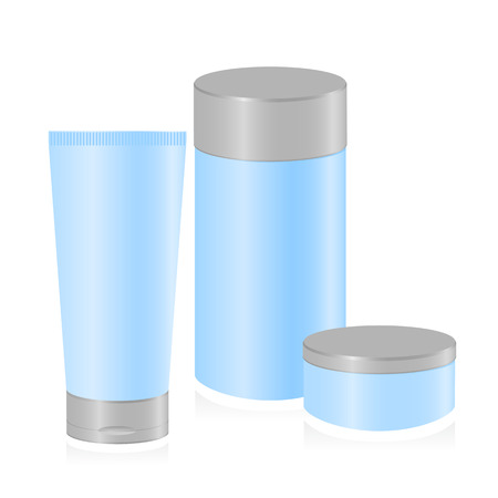 body fluid: Set of cosmetic container templates. Vector-Illustration