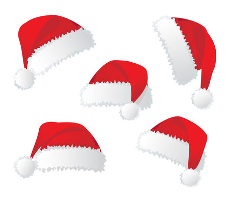 Santas red hat. Vector illustration Vector