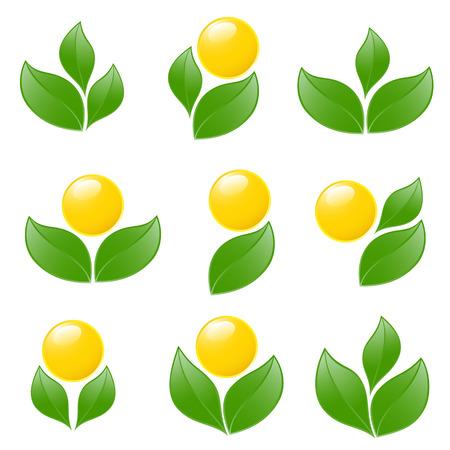 Set di loghi - pianta. Vector-Illustration Archivio Fotografico - 3755947