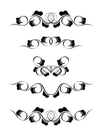 Frame in vintage style. Symmetric inward. Vector Illustration Stock Vector - 3807665