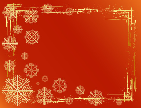 Golden Christmas background design. Vector-Illustration. Stock Vector - 3807670
