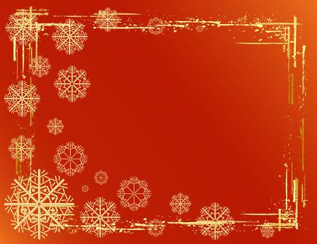 Golden Christmas background design. Vector-Illustration. Stock Vector - 3807670