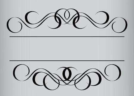 Frame in vintage style. Symmetric inward. Vector Illustration Stock Vector - 3839755