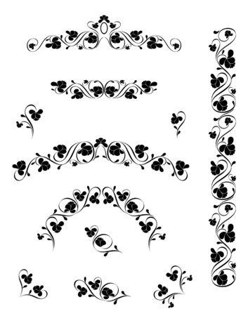Vintage pattern for design. Vector illustration Stock Vector - 3948260