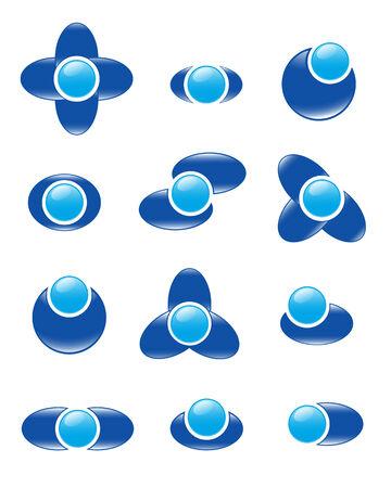 Set of logos. Vector-Illustration Vector