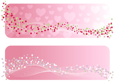 valentineday: The Valentines banner. Vector-Illustration