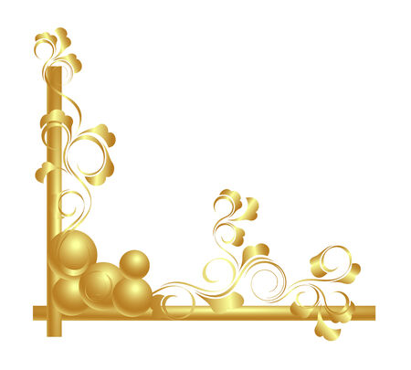 Design elements in gold. Vector-Illustration. Vector
