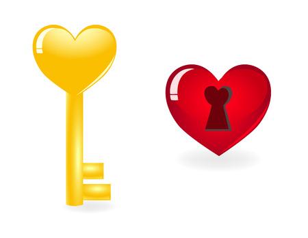 Key to heart. Vector-Illustration Vector