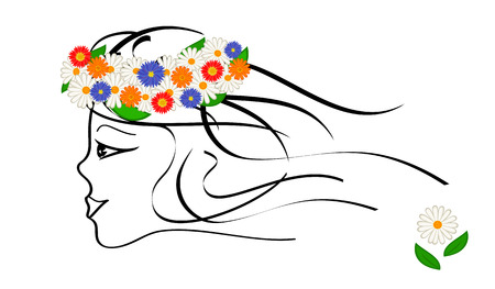Spring girl. Vector-Illustration Stock Vector - 4260596