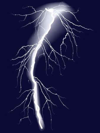 jolt: Bolts of lightning in dark sky. Vector-Illustration Illustration