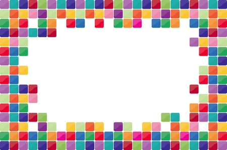 confetti white: Colorful mosaic background. Vector-Illustration