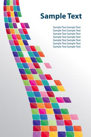 Mozaiki kolorowe tło. Ilustracji wektorowych