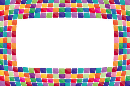 De fondo colorido mosaico. Vector-Ilustración Foto de archivo - 4423155