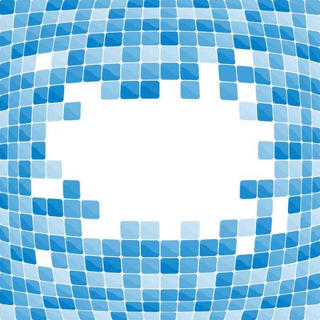 застекленный: Blue mosaic background. Vector-Illustration