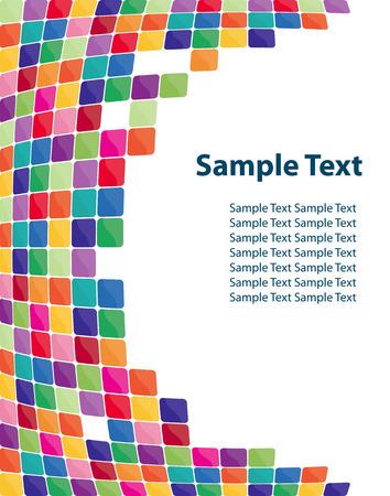 застекленный: Colorful mosaic background. Vector-Illustration