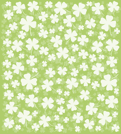 leafed: Clover ornament. Background for design. Vector-Illustration. Illustration