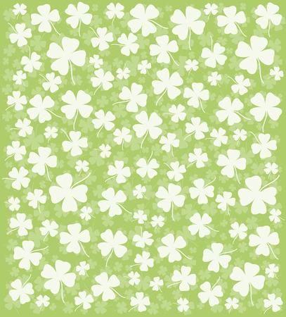 Clover ornament. Background for design. Vector-Illustration. Stock Vector - 4423160