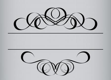 Frame in vintage style. Symmetric inward. Vector Illustration
