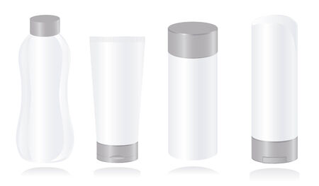 Set of cosmetic container templates. Vector-Illustration