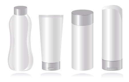 Set of cosmetic container templates. Vector-Illustration Vector