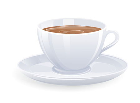 Isolated cup of coffee. Vector-Illustration Stock Vector - 4486752
