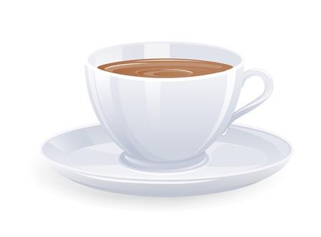 Pojedyncze filiżanki kawy. Vector-Illustration