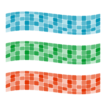 Colorful mosaic banner. Vector-Illustration Vector