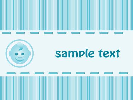 Baby boy arrival announcement card. Vector-Illustration Stock Vector - 4575557